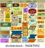 the big set of vector tickets... | Shutterstock .eps vector #96087092