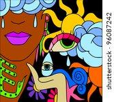 abstract face | Shutterstock .eps vector #96087242