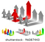 color diagram for business with ... | Shutterstock .eps vector #96087443