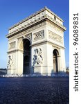 vertical view of arc de... | Shutterstock . vector #96089831