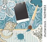 raster version scrapbook design ... | Shutterstock . vector #96094853