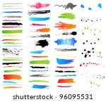collection of grunge colorful... | Shutterstock .eps vector #96095531