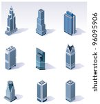 vector isometric city... | Shutterstock .eps vector #96095906