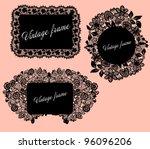 vintage frame set. eps 10 | Shutterstock .eps vector #96096206