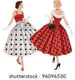 Two Elegant Women The Brunette...