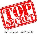 grunge top secret rubber stamp  ... | Shutterstock .eps vector #96098678