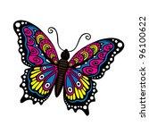 fantasy butterfly | Shutterstock .eps vector #96100622