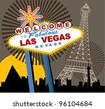 las vegas welcome sign | Shutterstock .eps vector #96104684
