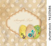 ester greeting card with eggs | Shutterstock .eps vector #96105686