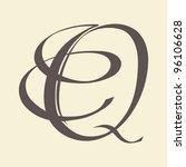 calligraphic letter vector... | Shutterstock .eps vector #96106628