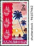 samoa   circa 1972  a stamp... | Shutterstock . vector #96107462
