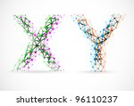 an abstract image of x and y... | Shutterstock .eps vector #96110237