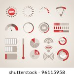 different indicators collection | Shutterstock .eps vector #96115958
