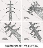 power transmission line  vector ...   Shutterstock .eps vector #96119456
