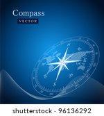 black compass vector... | Shutterstock .eps vector #96136292