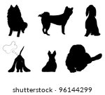Stock vector silhouettes set breeds of dog vector illustration eps 96144299