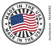 vector stamp with flag of the... | Shutterstock .eps vector #96146582