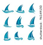 yachts and sailboats symbols...   Shutterstock .eps vector #96149150