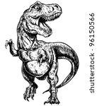tyrannosaurus dinosaur vector... | Shutterstock .eps vector #96150566