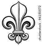 fleur de lis vector linework... | Shutterstock .eps vector #96150572