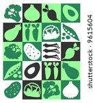 vegetables | Shutterstock .eps vector #9615604