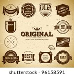 set of vintage original an... | Shutterstock .eps vector #96158591