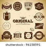 set of vintage original an... | Shutterstock .eps vector #96158591