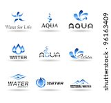 Set Of Water Design Elements....