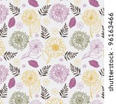 floral seamless pattern | Shutterstock .eps vector #96163466