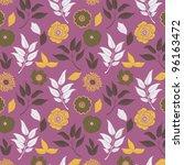 floral seamless pattern | Shutterstock .eps vector #96163472