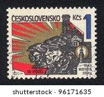 czechoslovakia   circa 1982  a... | Shutterstock . vector #96171635
