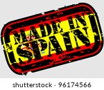 grunge made in spain rubber... | Shutterstock .eps vector #96174566