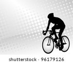 bicyclist on the abstract... | Shutterstock .eps vector #96179126