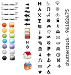 signatures   icons for maps | Shutterstock .eps vector #96182675