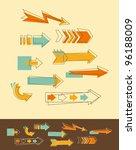 set doodle arrows | Shutterstock . vector #96188009