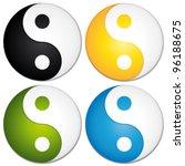 yin yang symbols set. colorful... | Shutterstock .eps vector #96188675