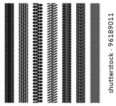 vector set of detailed tire prints - stock vector