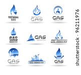 set of gas energy icons.... | Shutterstock .eps vector #96211976