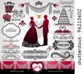 wedding day  background ... | Shutterstock .eps vector #96213602
