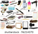 isolated objects on a white... | Shutterstock . vector #96214370