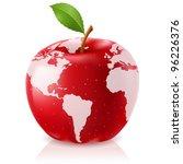 Raster Version.  Red Apple...