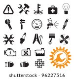 car mechanic and service tools  ... | Shutterstock .eps vector #96227516