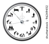 clock of icons of people  the... | Shutterstock .eps vector #96249452