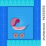 baby shower | Shutterstock .eps vector #96253553