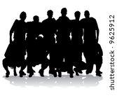 soccer team silhouettes | Shutterstock .eps vector #9625912