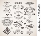 vector set  calligraphic design ... | Shutterstock .eps vector #96261623