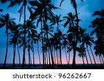 Stock photo sunset big island hawaii 96262667