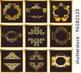 decorative golden vector ornate ... | Shutterstock .eps vector #96282125