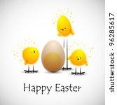 easter chicks  eps10 | Shutterstock .eps vector #96285617