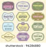 vector set vintage labels   Shutterstock .eps vector #96286880